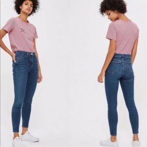Topshop Moto High-Rise Ankle Crop Skinny Jeans 30
